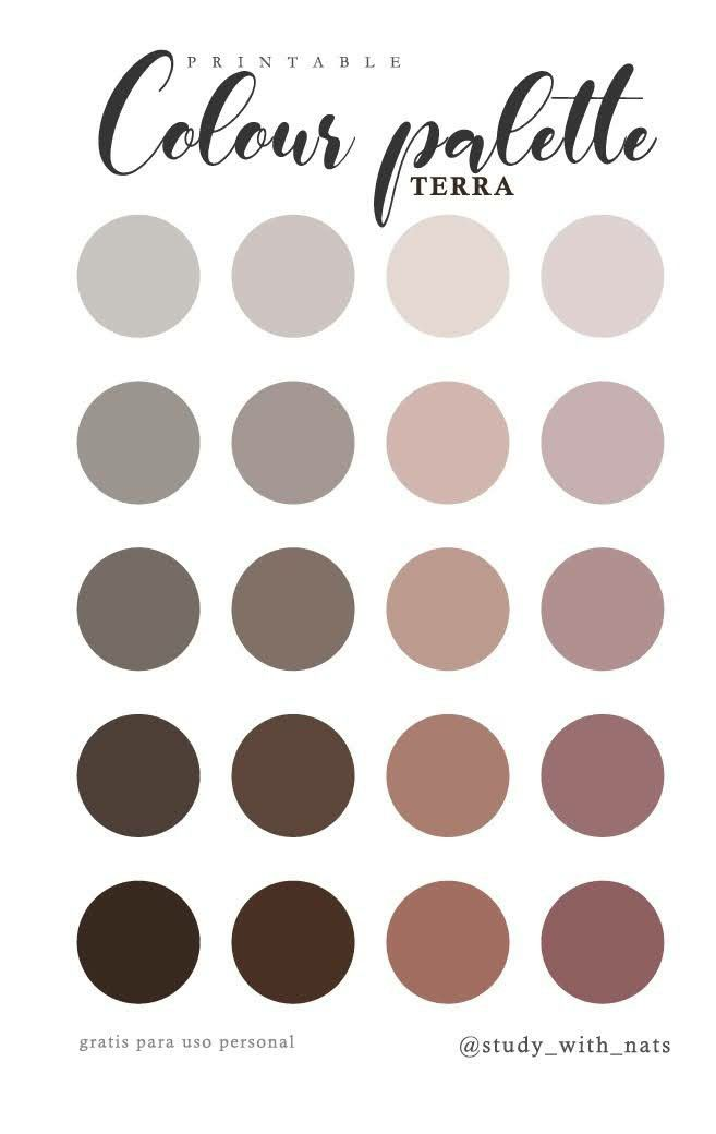 Printable colour palette terra