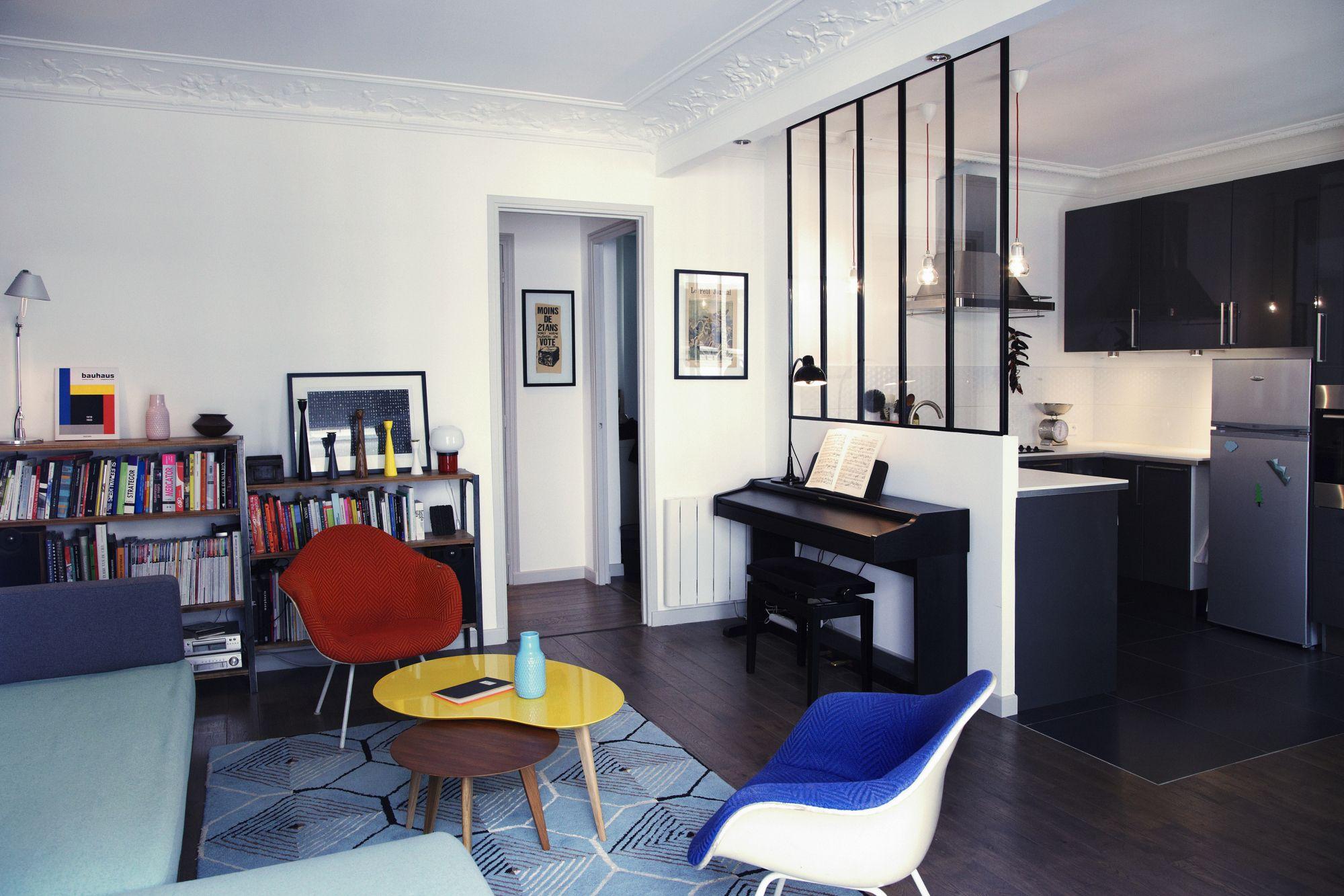 Aménager une petite surface de 46m2 | mezzanine balcon | Pinterest ...