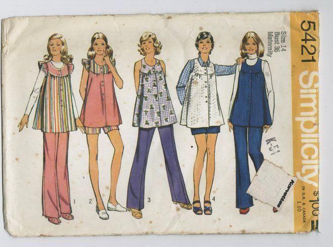 70s smock top | Vintage sewing, Sewing patterns, 1970s sewing patterns