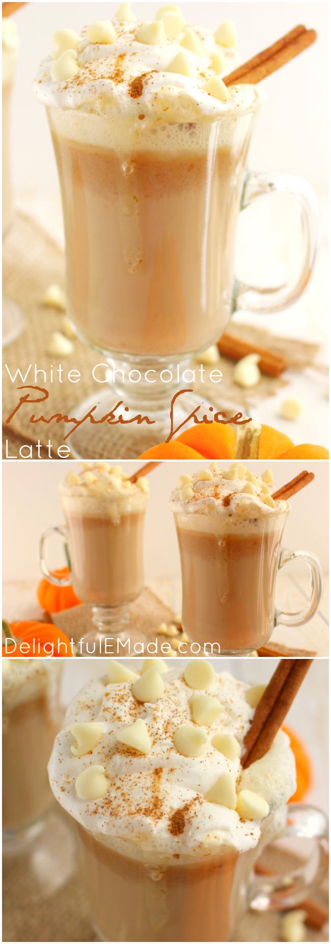 White Chocolate Pumpkin Spice Latte #falldrinks