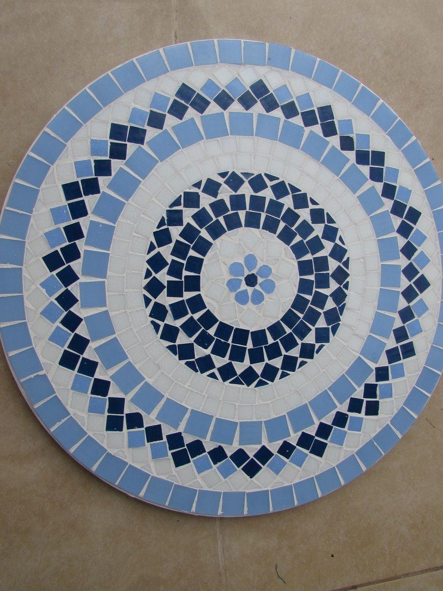 Bandeja Giratoria Mosaico Diametro 60cm Mosaico De Vidro