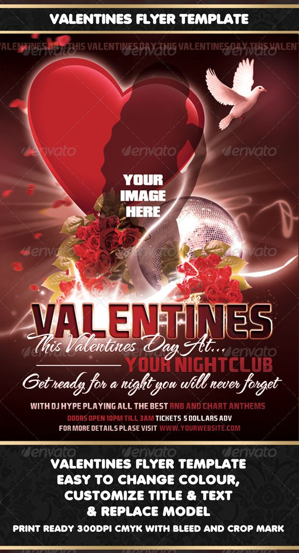 Valentines Flyer Template Valentine Day, Love and Heart Flyers - new year brochure template