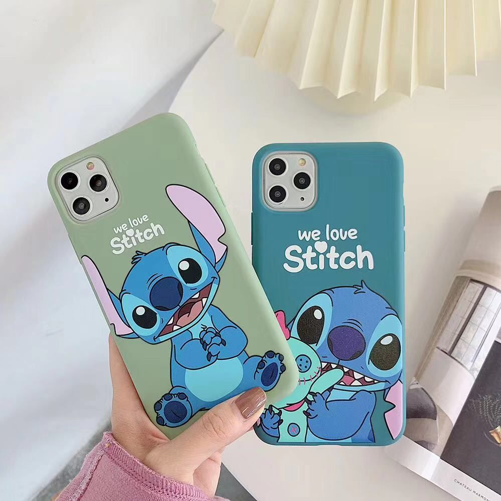 For Iphone 11pro Max Japan Korean Super Cute Stitch Matte Anti Drop Tpu Soft Cover For Iphone Max Xs Xr6 7 8plus X Phone Cases Iphone Cases Disney Disney Phone Cases Cute