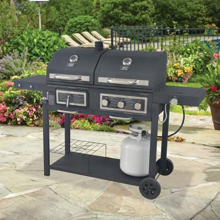 667 Sq In Gas Charcoal Grill Outdoor Barbeque Backyard Grilling