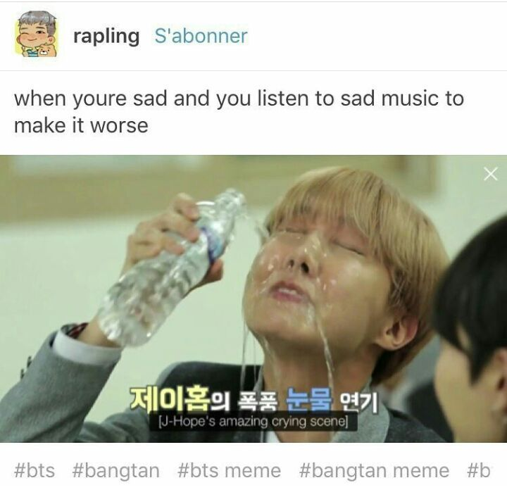 Image result for jhope crying meme