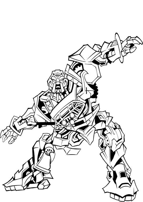 Transformers Ironhide Robots Coloring