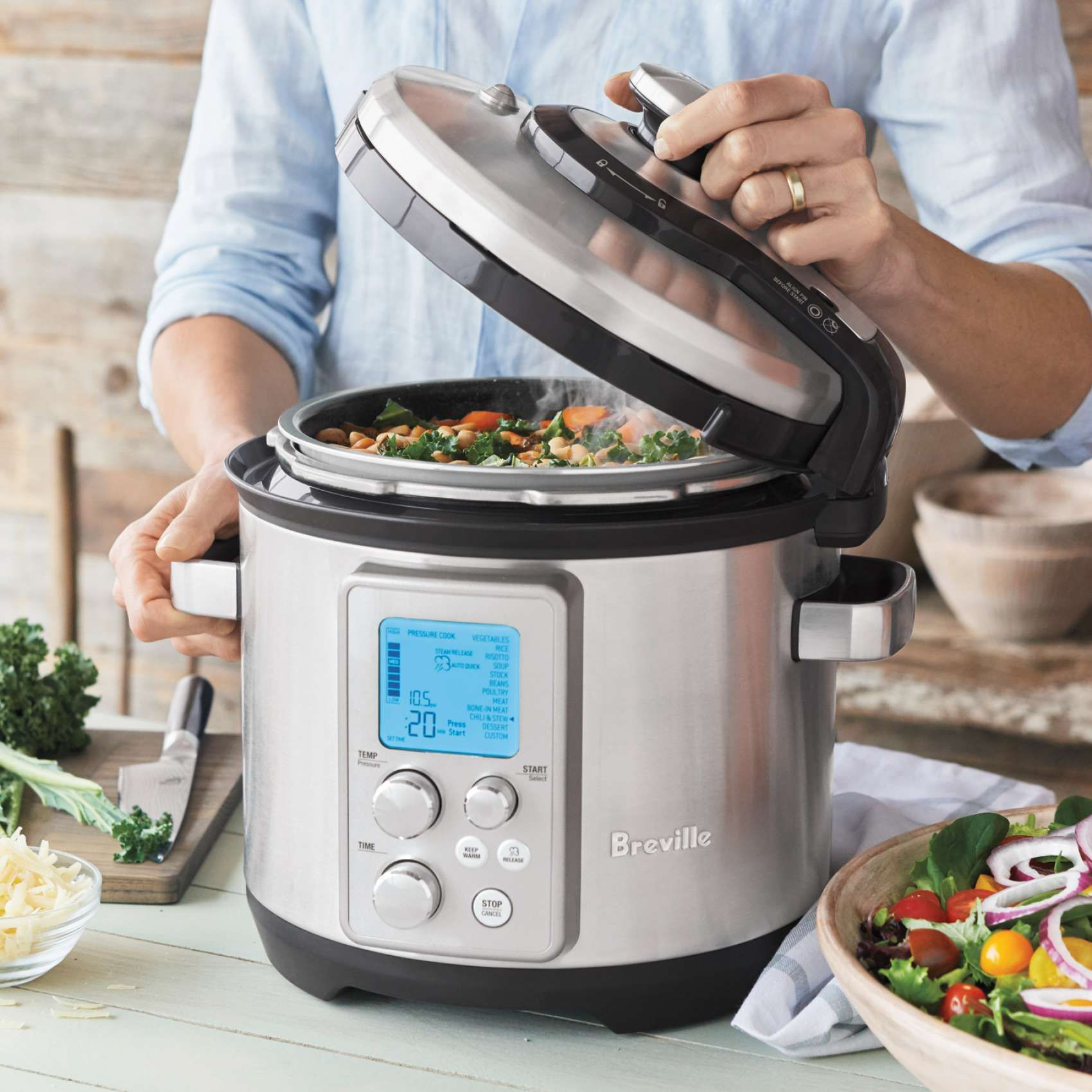 Breville Fast Slow Pro Pressure And Slow Cooker Sur La Table With Images White Bean Soup Recipes White Bean Soup