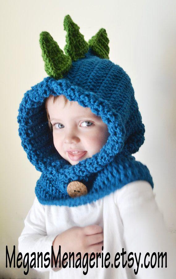 dcddc7a8c20 Dinosaur Hat - Dinosaur Hoodie - Dinosaur Cowl - Animal Hat - Hooded ...