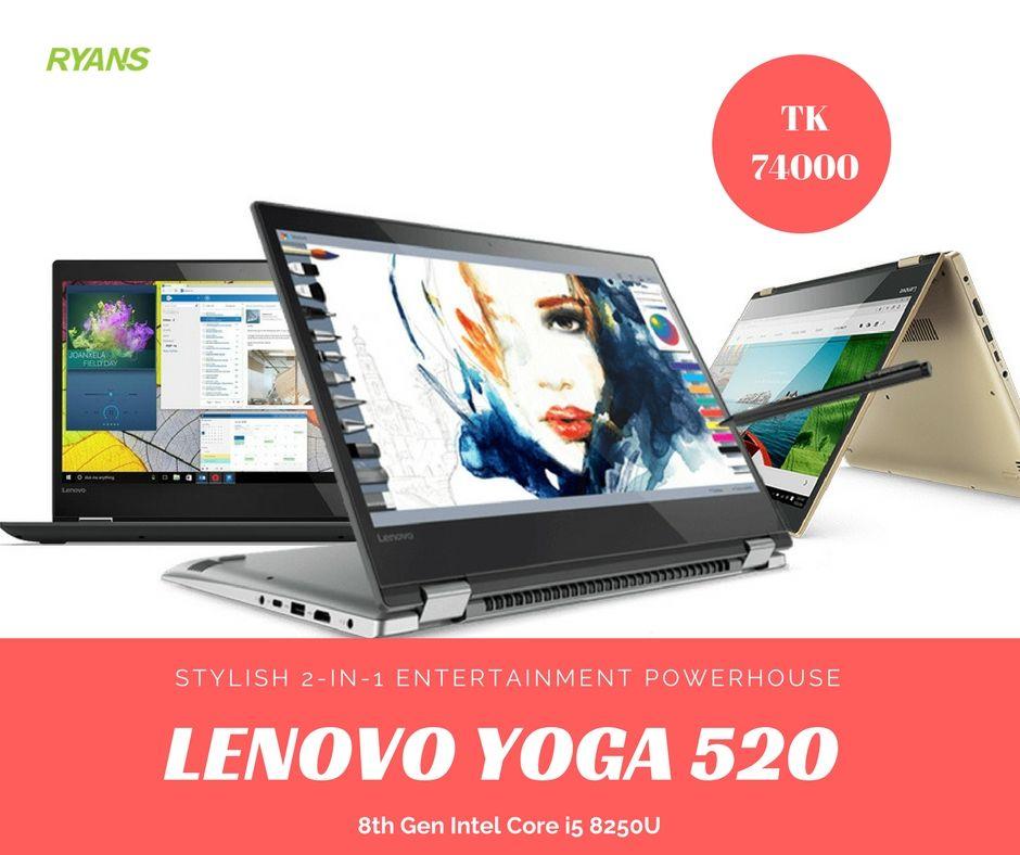 Lenovo Yoga 520 8th Gen Intel Core i5 8250U (1.6-3.4GHz, 8GB DRR4, 1TB HDD)  14 Inch FHD (1920x1080) IPS Touch Display, Back-light Keyboard,  Fingerprint, ... 94fcd01e7e9b