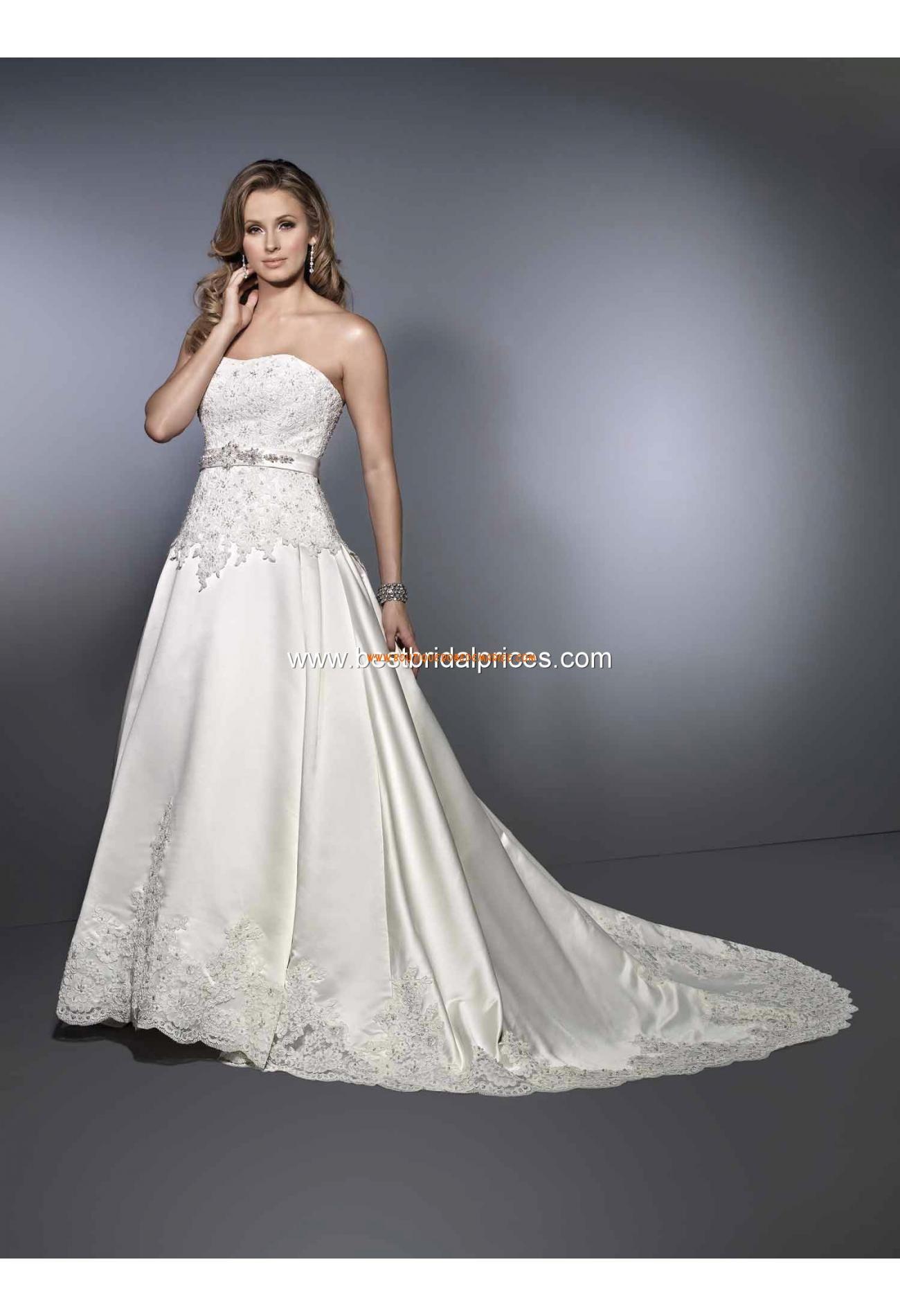 Robe de mariée star bustier dentelle satin   Robe de mariage Canada ...