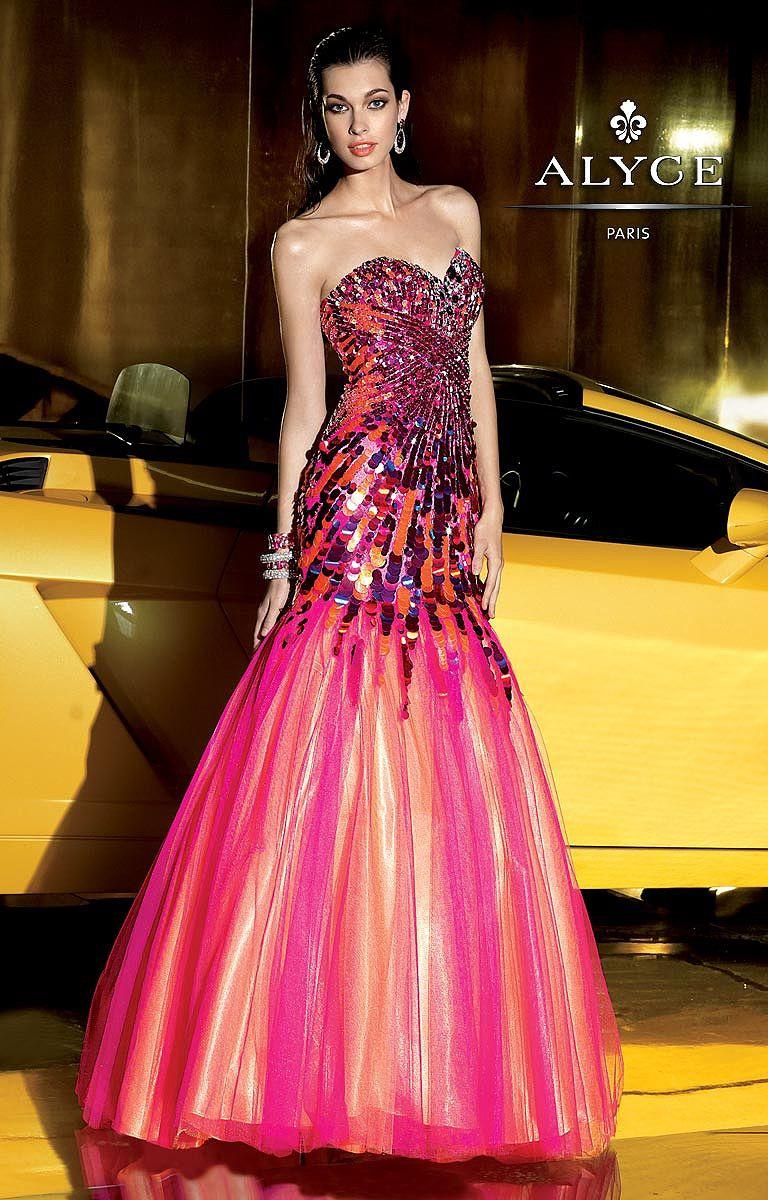 Alyce paris multi tone mermaid prom dress prom dresses pinterest