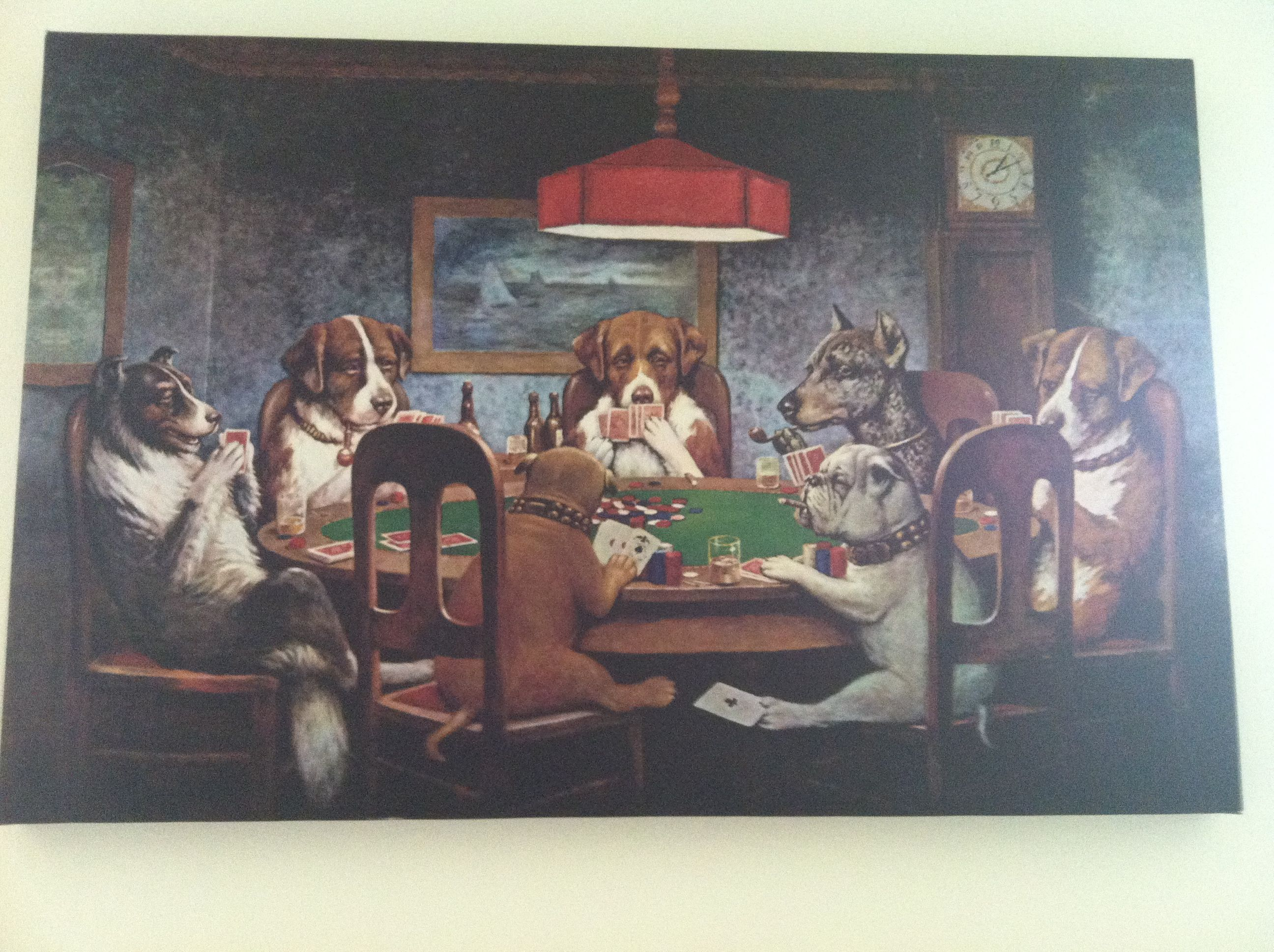 the famous dogs playing poker poster Famous dogs, Dogs