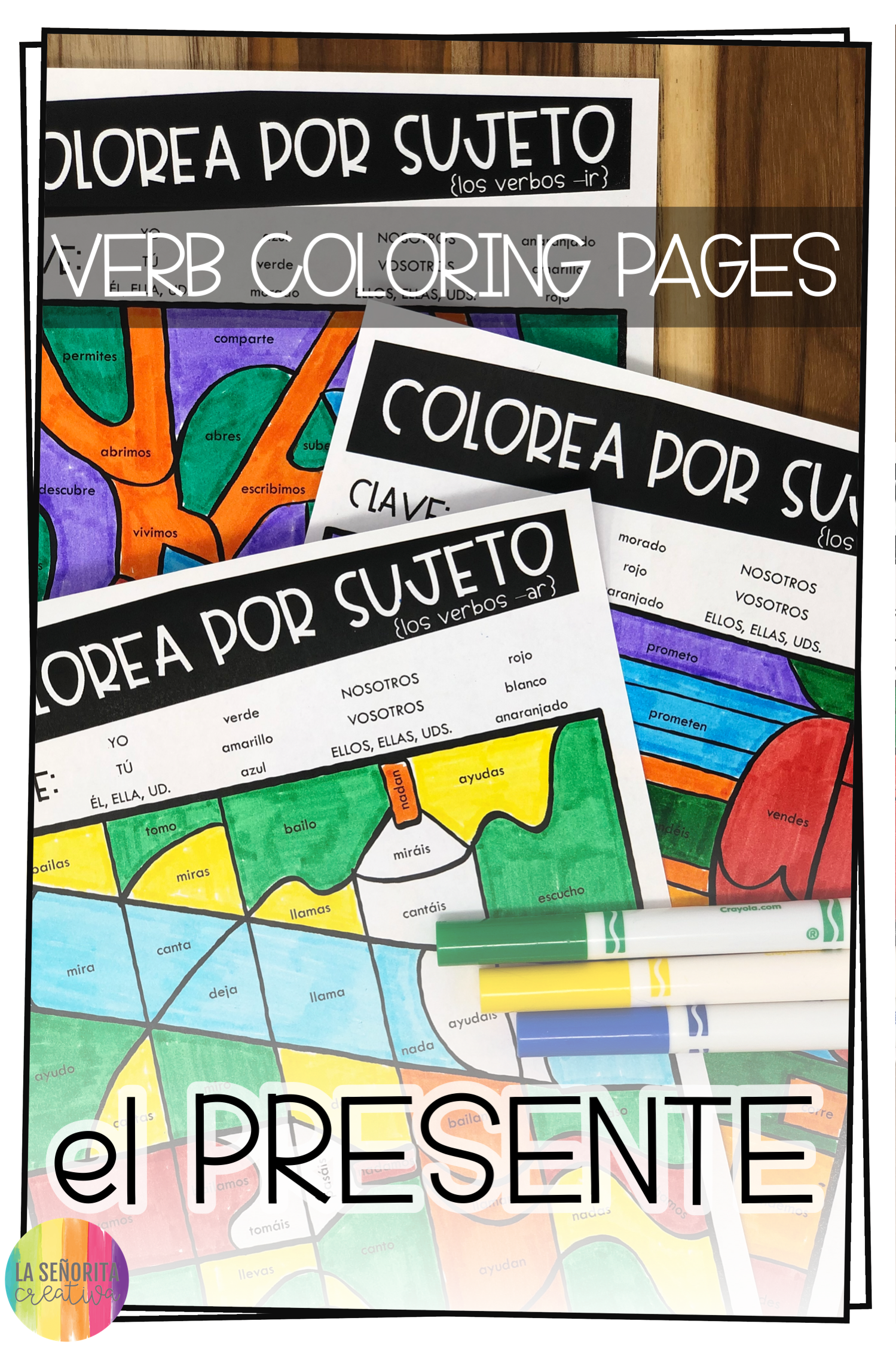 Love This Fun Way To Introduce Practice Or Review Verb Conjugations For The Regular Present Tense In Spanish Yo Color Activities Present Tense Regular Verbs [ 2249 x 1499 Pixel ]