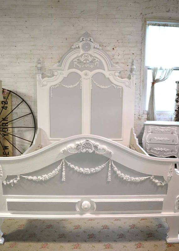 Painted Cottage Shabby Chic French Bed Queen King Shabby Chic