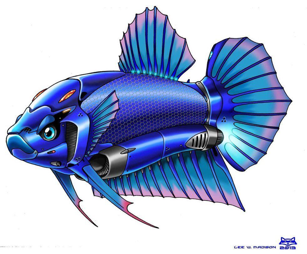 Robot Betta Fish By Artraccoon On Deviantart Betta Betta Fish Fish Logo