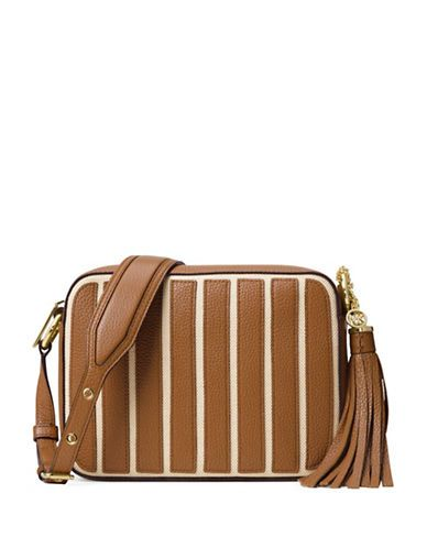 678256d4b5b1 Michael Michael Kors Brooklyn Applique Striped Large Camera Bag Women'