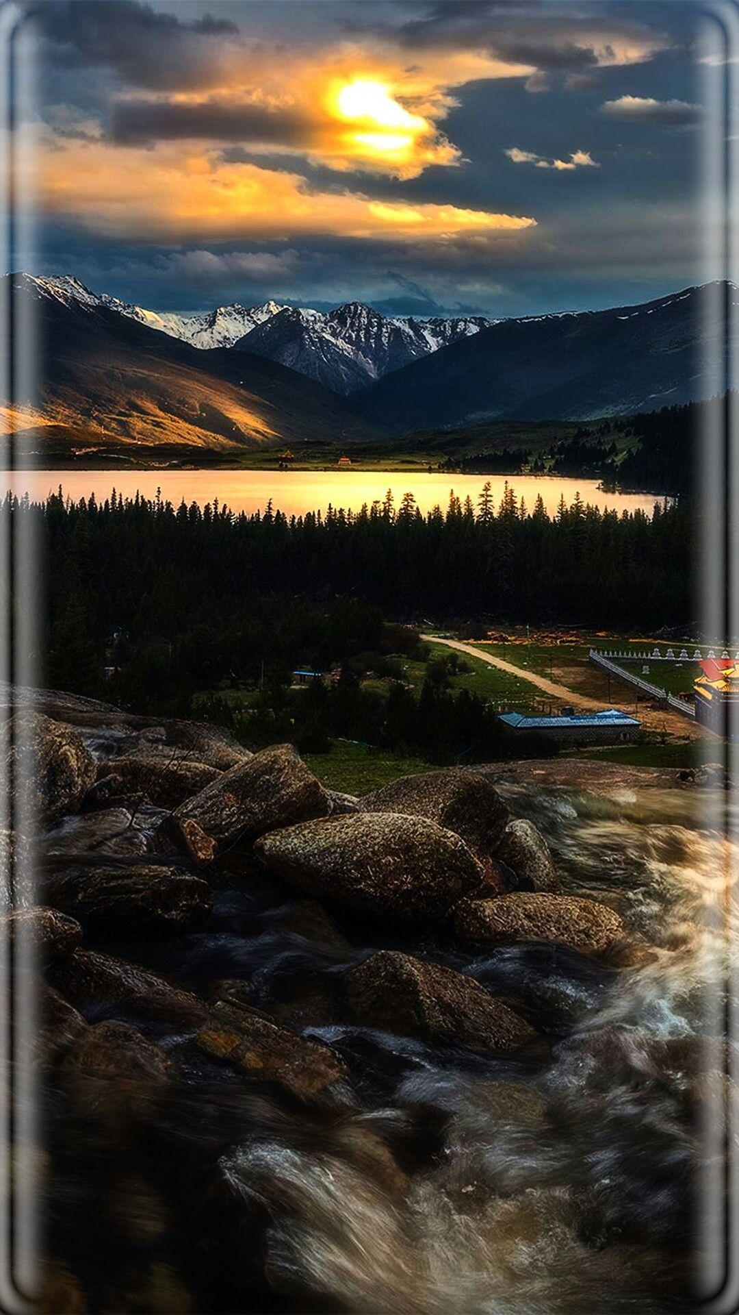 Mountain and Creek Wallpaper Lenovo wallpapers