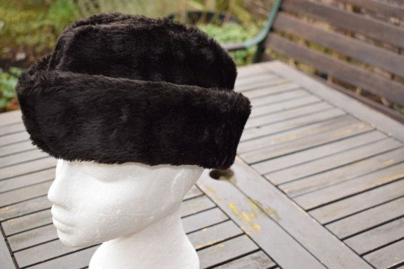 Gentlemans Hat Winter Hat Faux Fur Brown by RETROSCARVESANDTIES ... e06b2798fda