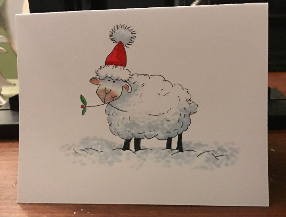 Hand Drawn Christmas Cards Kerst kunst, Kerst schilderij
