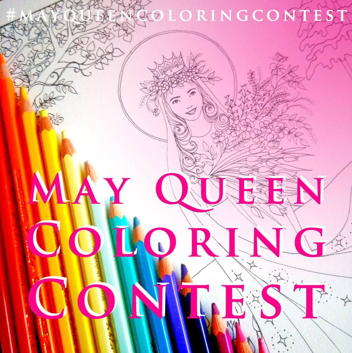 May Queen Coloring Contest! | Catholic art