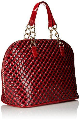 223b60ab9782 Fashion Bug Quilted Patent Bugatti Shoulder Bag