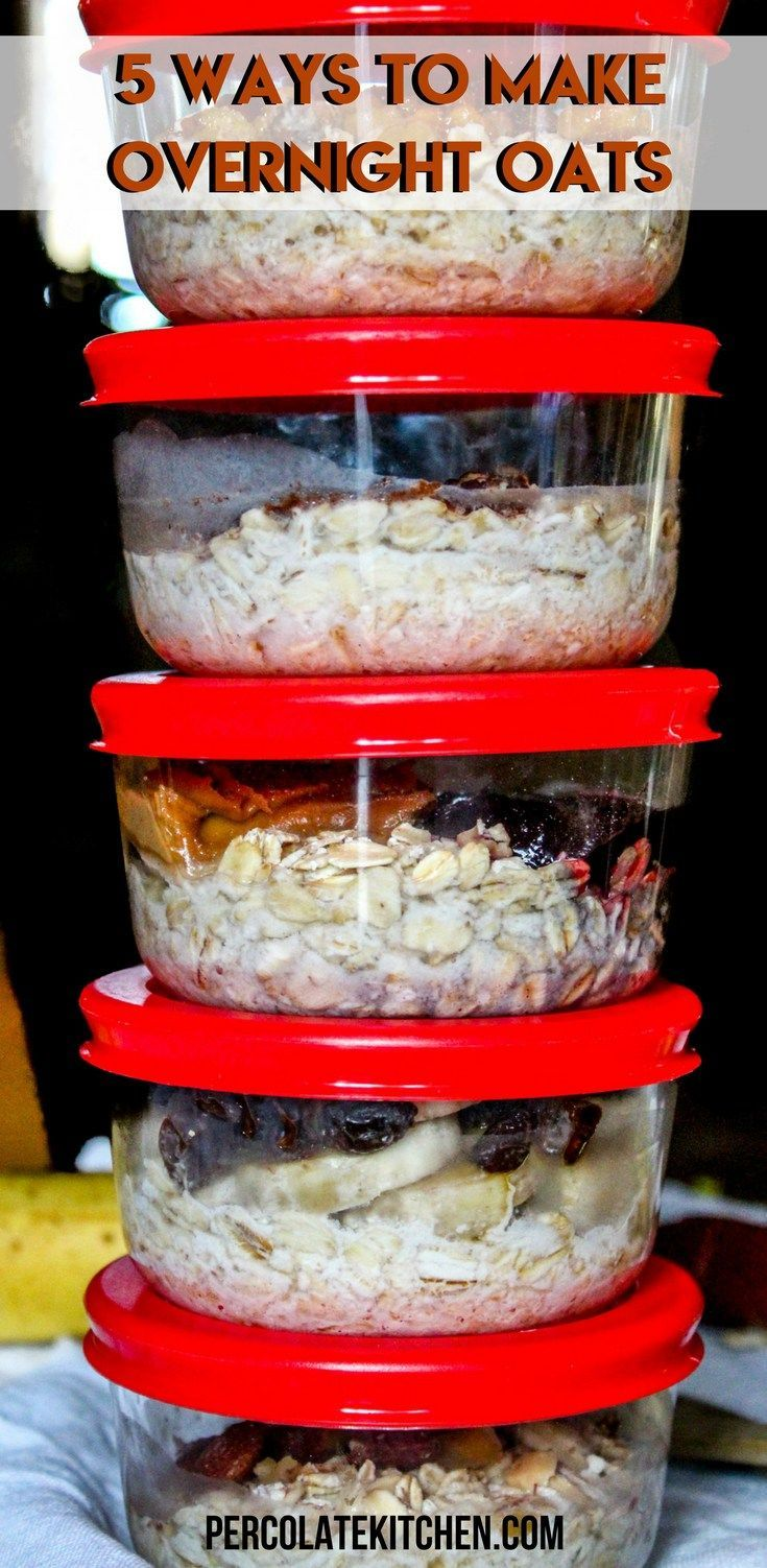 How to make Overnight Oats for Breakfast (& Be On Time in the Mornings For Once) images
