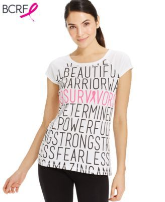 Ideology Short-Sleeve Breast Cancer Awareness Tee. Save 6% in cash back: http://www.topcashback.com/macys/