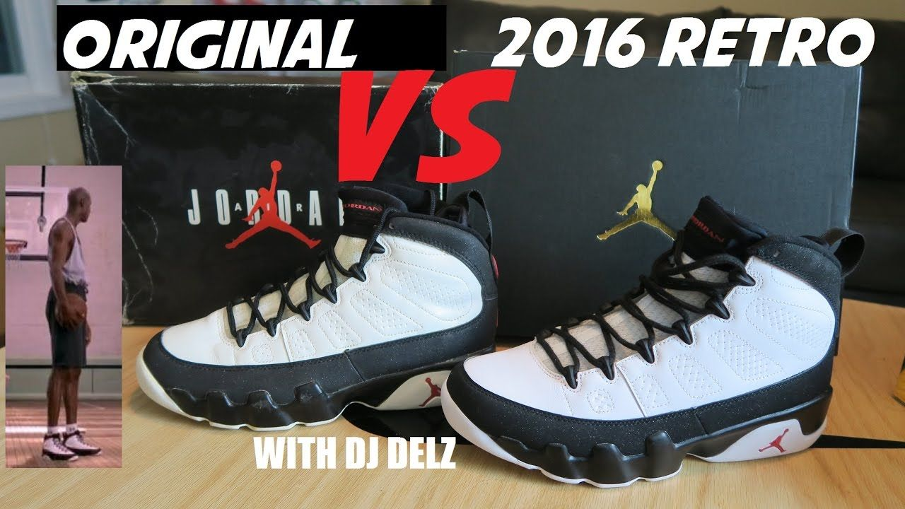 new styles 1180f 72482 Air Jordan 9 Space Jam 2016 VS Original Shoe Comparison + On Foot Look  .