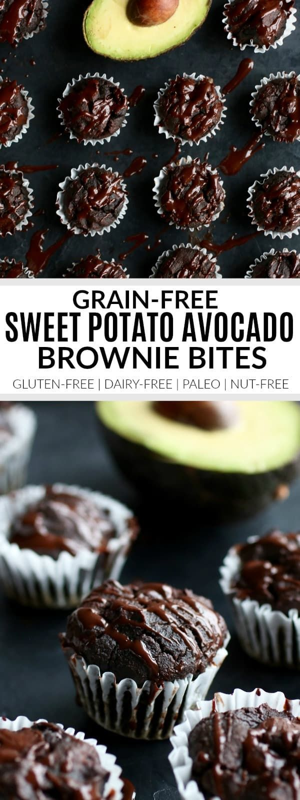Sweet Potato Avocado Brownie Bites #chocolatedessertrecipes