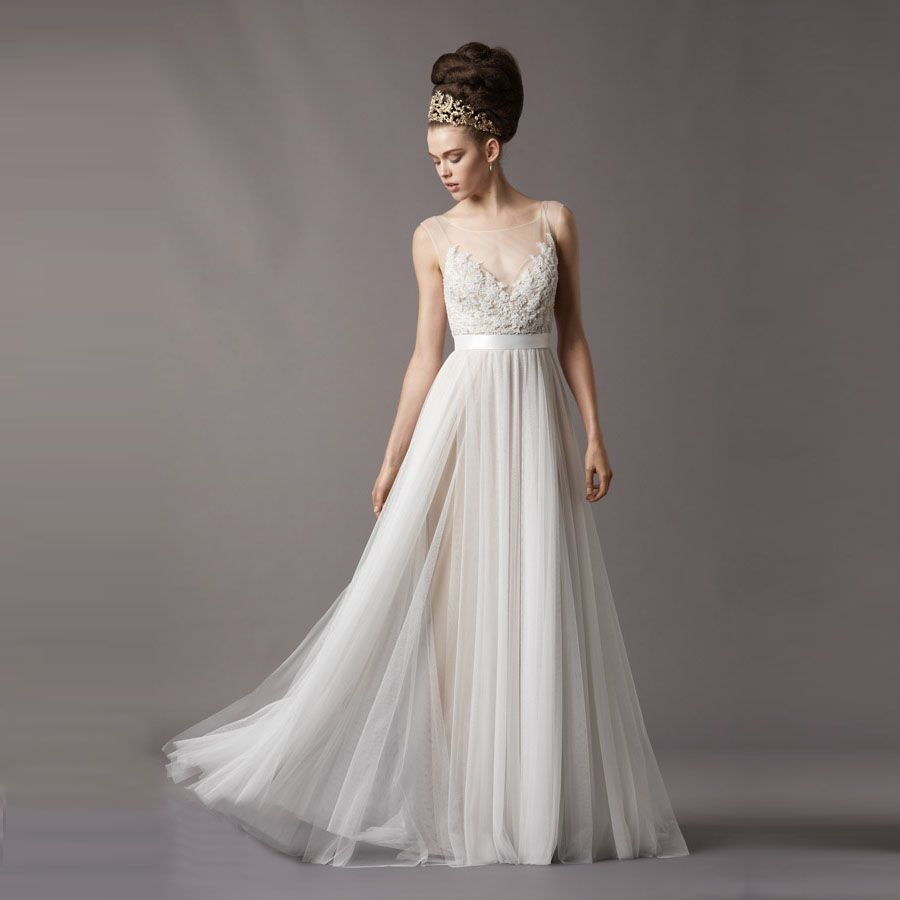 Find More Wedding Dresses Information about Real Photo Vintage Beach ...