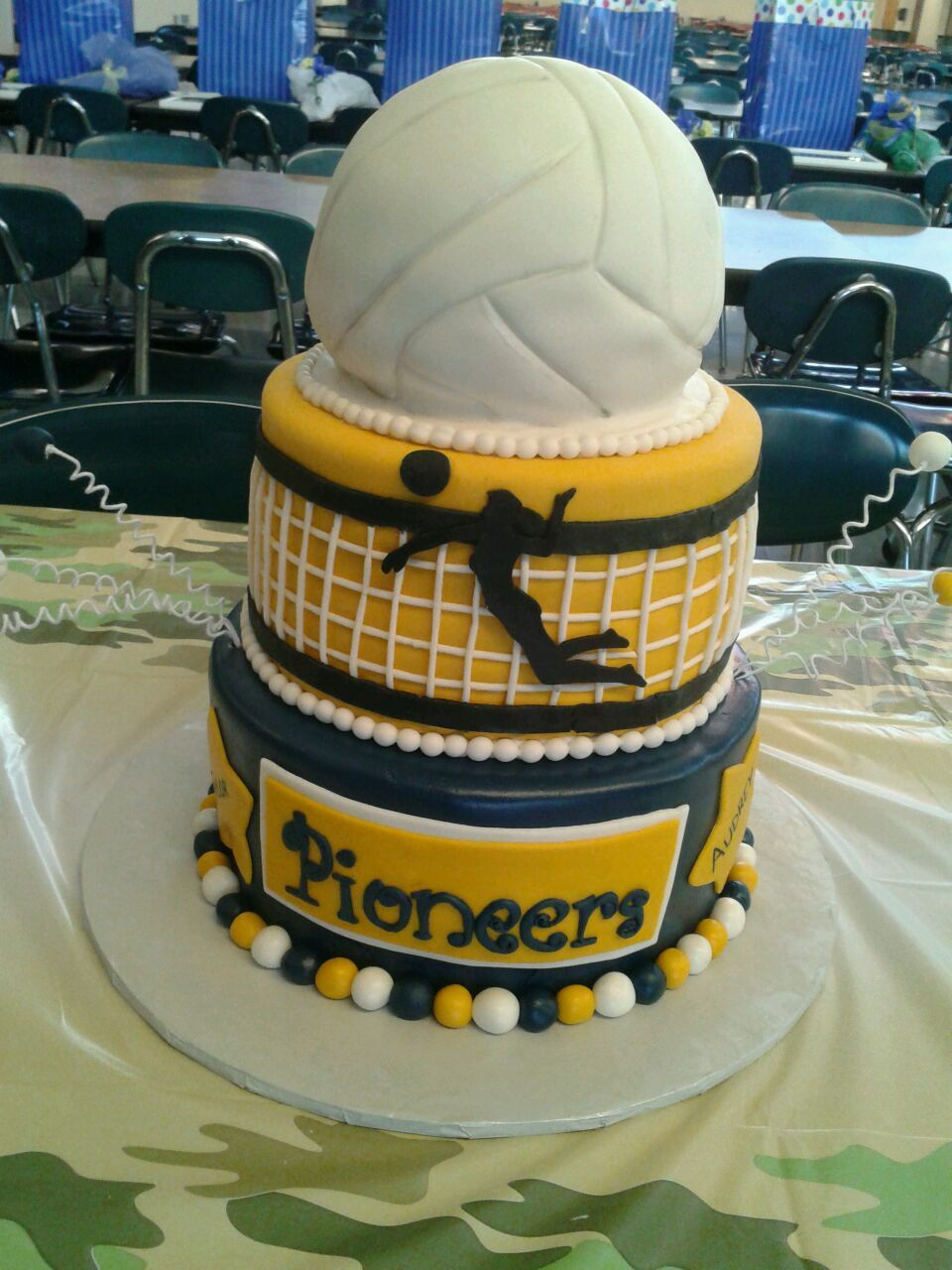 Volleyball Senior Cake Volleyball Cakes Volleyball Birthday Cakes Music Cakes