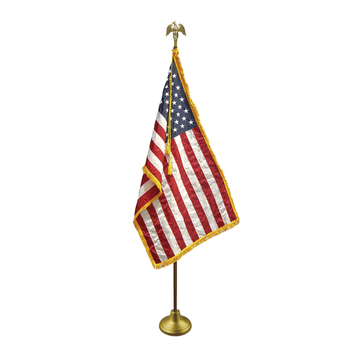 American Indoor Oak Flag Set | Flags