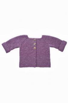 1349 Rätstickad tröja i ett stycke (6 mån 3 år) | Tröjor