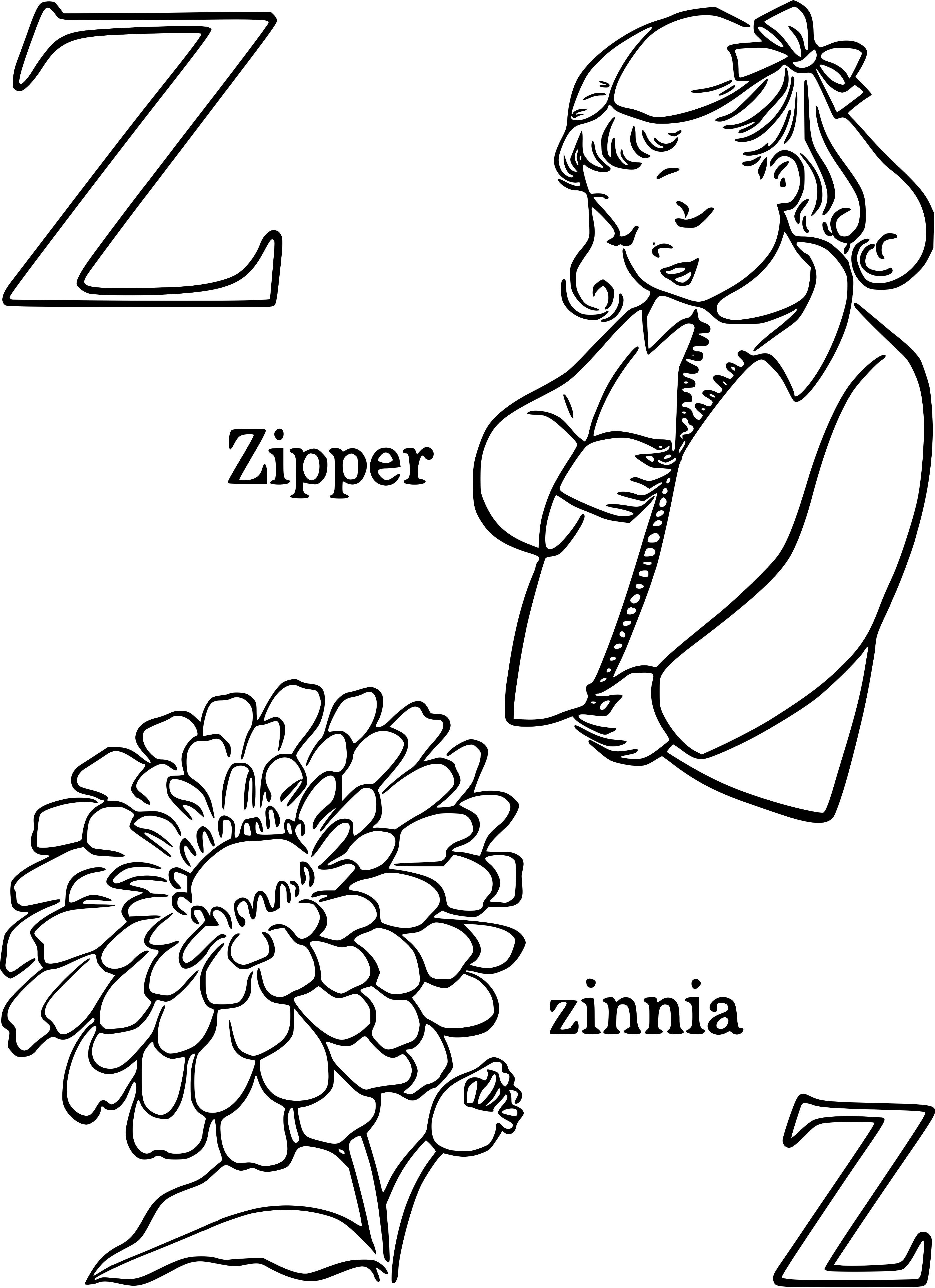 Zinnia Coloring Pages Best Coloring Pages For Kids Printable Flower Coloring Pages Fairy Coloring Pages Coloring Pages