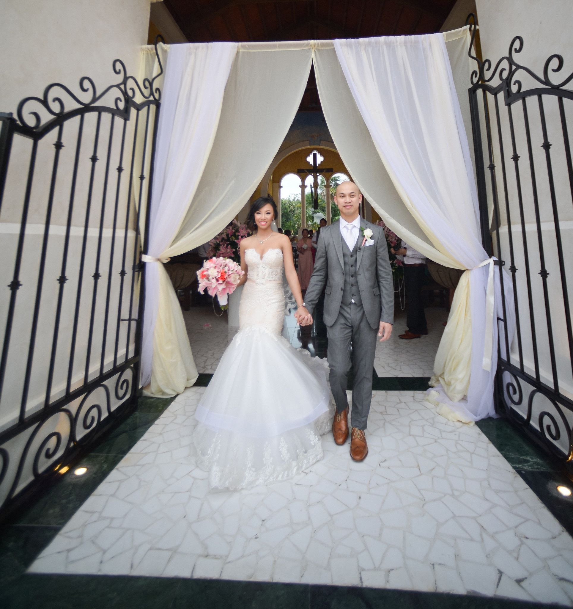 Trumpet Wedding Dress With Horsehair Braid (Style PB115