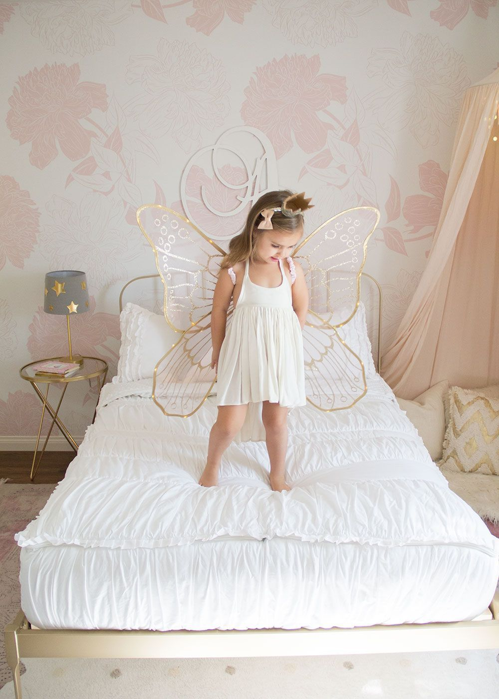 our big girl's room reveal #beddysbedding this little fairy girl is loving her super easy beddy's bedding for her new big girl room! | thelovedesignedlife.com #beddysbedding our big girl's room reveal #beddysbedding this little fairy girl is loving her super easy beddy's bedding for her new big girl room! | thelovedesignedlife.com #beddysbedding