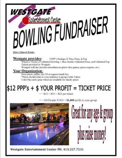 Bowling Fundraiser Flyerg Bowling Pinterest