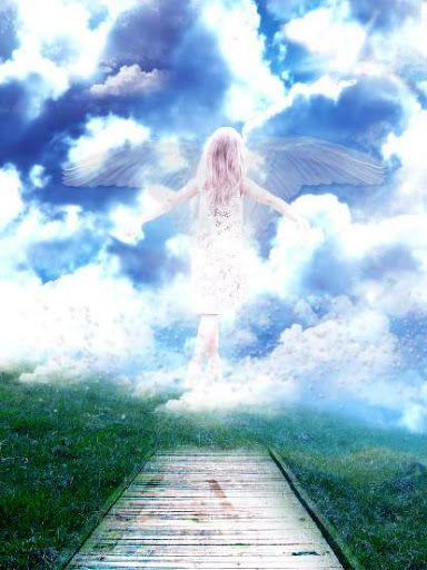 Little Angel Going To Heaven Angel Flying Up To Heaven Wallpapers Angels In Heaven Heaven Wallpaper Angel