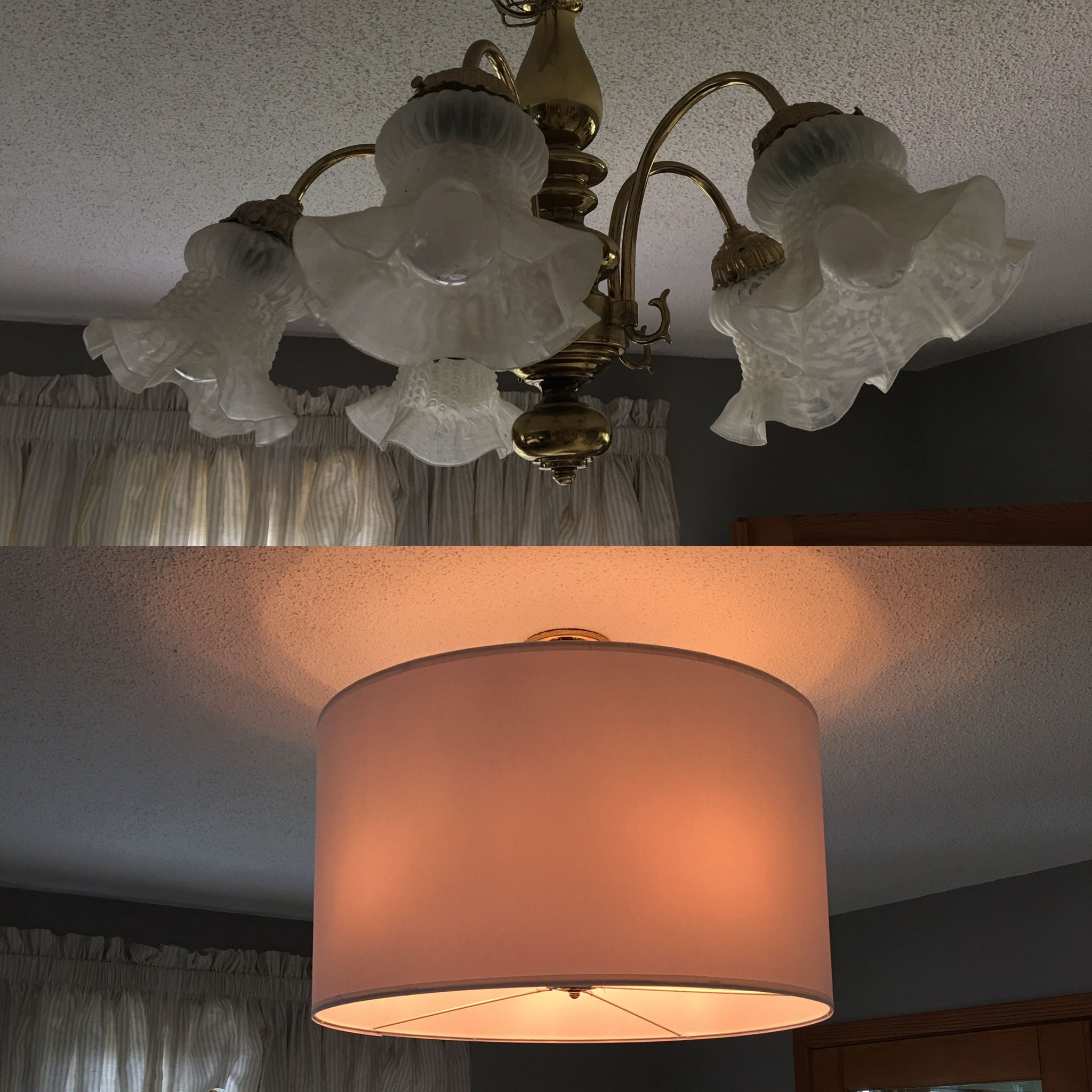 Gold chandelier makeover a simple ikea hack letting you upgrade gold chandelier makeover a simple ikea hack letting you upgrade lighting in a rental arubaitofo Images