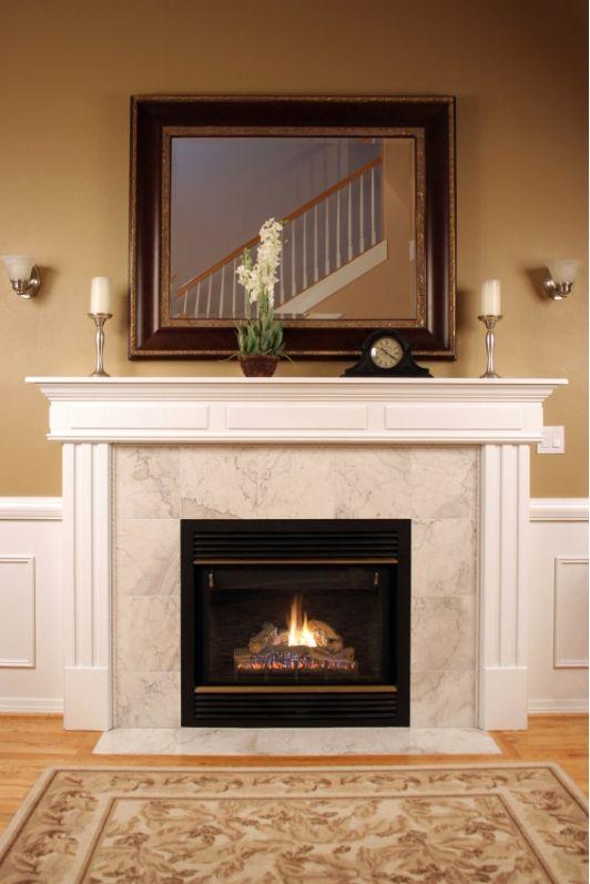 Fireplace Traditional Design Clean Simple Dizajn Kamina