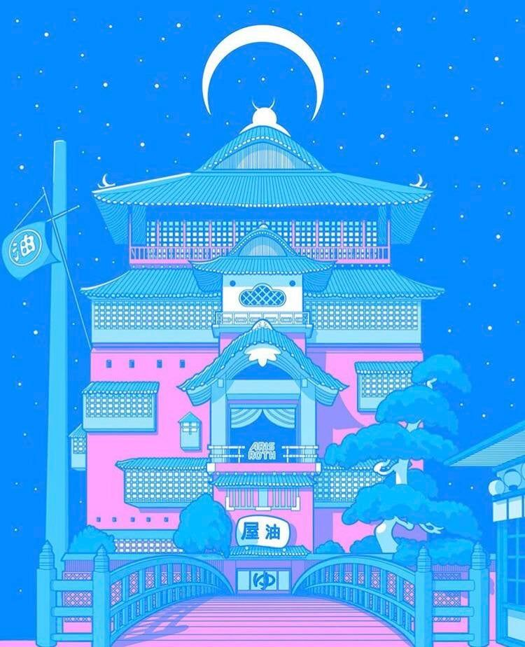 tokyo moonrise spirited away bathhouse by arisroth