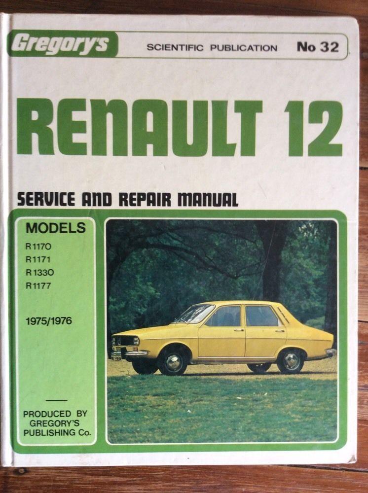 gregory s no 32 renault 12 1975 1976 book used service repair manual rh pinterest com Yamaha Service Manuals PDF Parts Manual
