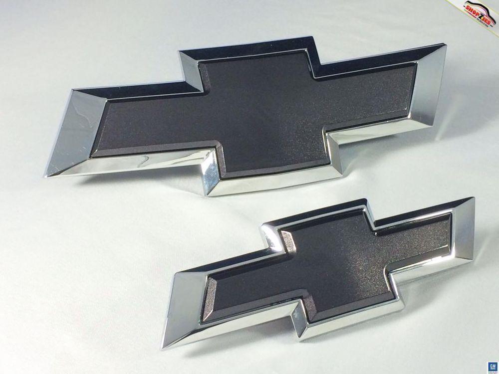 Chevy Cruze Bowtie Emblem Billet Insert Replacement 2pc Set Black