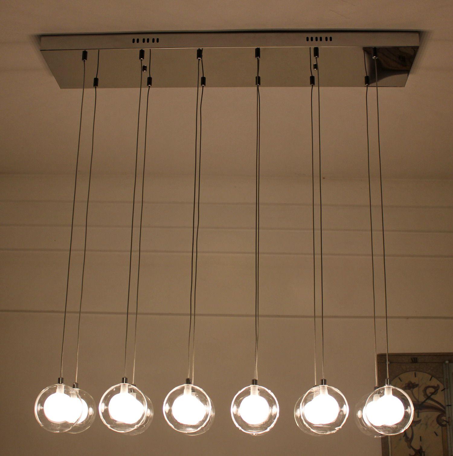 moderno romantico 12 doppio strato palla di vetro lampada a ...