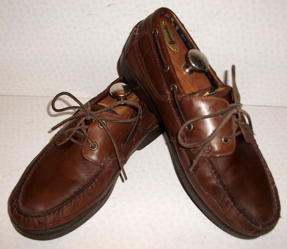 Timberland Deck Boat Shoes 9 Brown Leather Loafers Moccasins