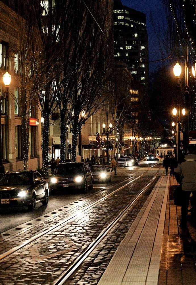 Morrison St. at night. Portland OR. StickleyCreative.com