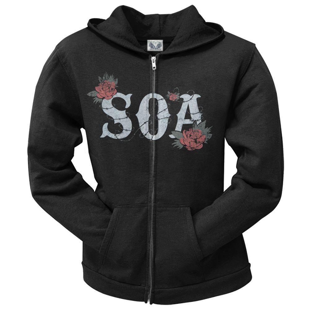 Sons Of Anarchy Rose Reaper Juniors Zip Hoodie From Old Glory Hoodies Zip Hoodie Black Hooded Sweatshirt