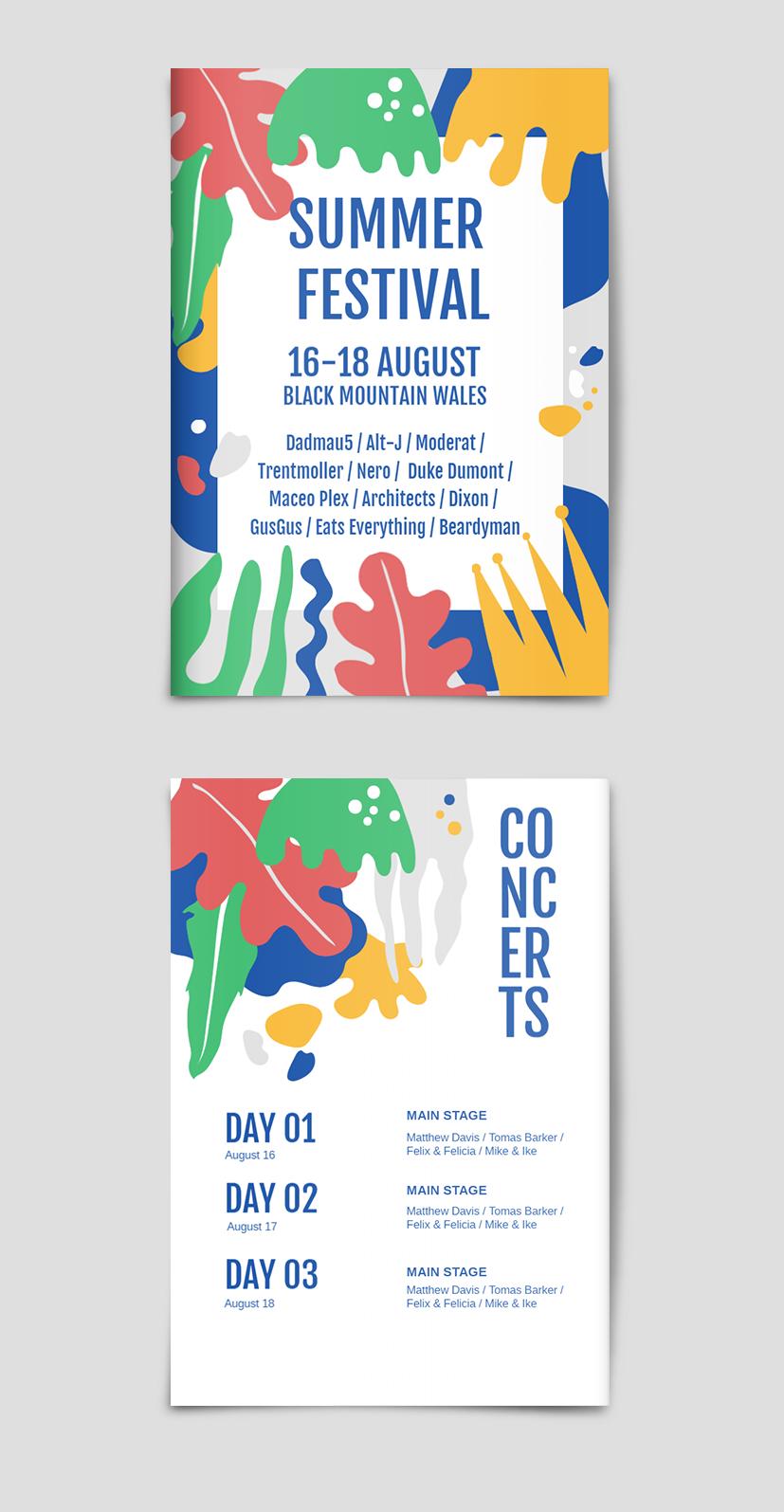 Summer Festival Poster #posterdesigns