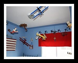 Going To Use This Idea In The Boys Room Hanging Planes From Ceiling With Fishing Line So They Look Like Are Flying Mid Air