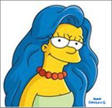 Dove Simpson Jpg 218 211 Blue Hair Cartoon Blue